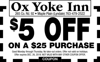 $5 OFF On a $25 Purchase
