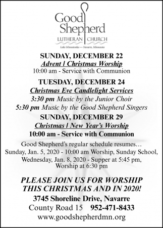 Christmas Eve Candlelight Services
