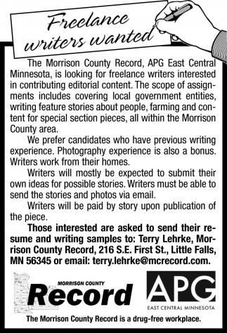 Freelance Writers Wanted