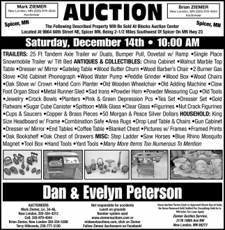 Auction Saturday, December 14th