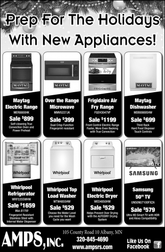 Prep for the Holidays with New Appliances!