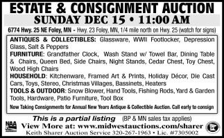 Estate & Consignment Auction