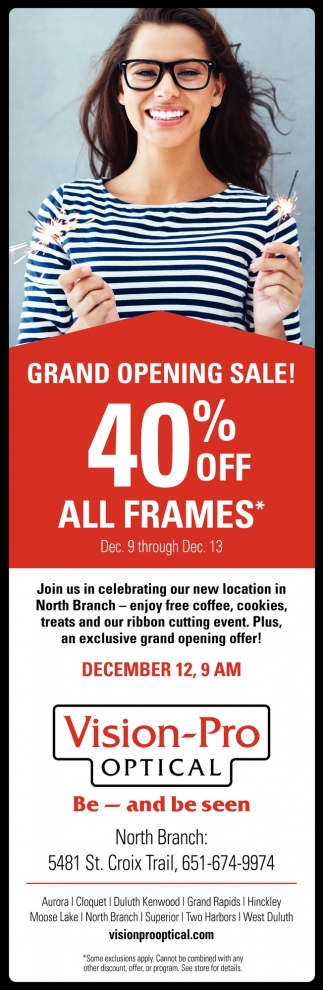 Grand Opening Sale!