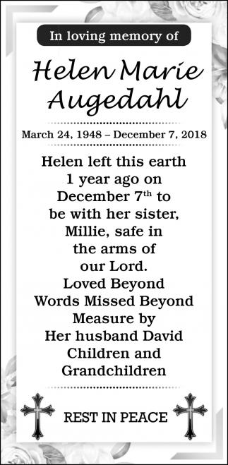 In Loving Memory of Helen Marie Augedahl