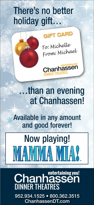 There's No Better Holiday Gift... than an Evening at Chanhassen!