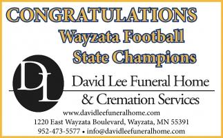 Congratulations Wayzata Football State Champions