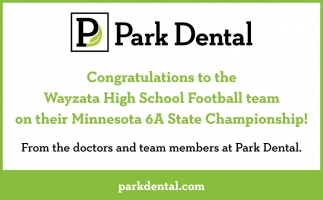 Congratulations to the Wayzata High School Football Team on their Minnesota 6A State Championship!