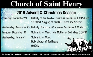 2019 Advent & Christmas Season