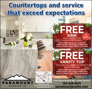 Countertops & Service that Exceed Expectations
