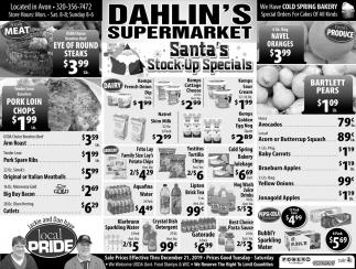 Santa's Stock-Up Specials