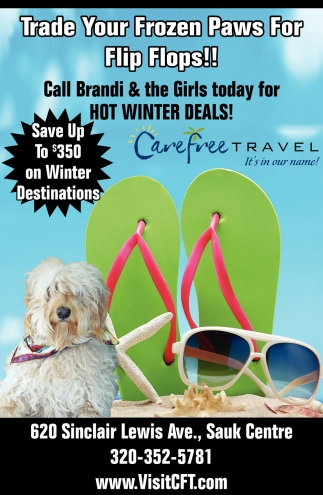 Trade Your Frozen Paws for Flip Flops!