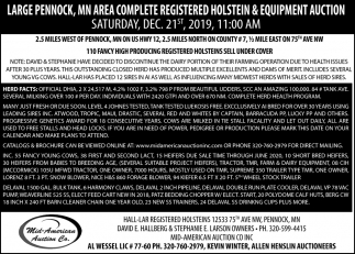 MN Area Complete Registered Holstein & Equipment Auction