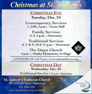 Christmas at St. Andrew's