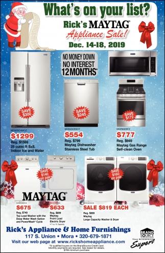 Appliance Sale!