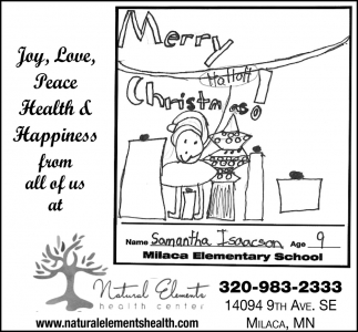 Joy, Love, Peace Health & Happiness from All of Us