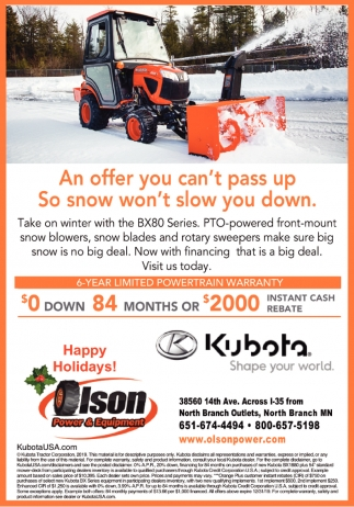 An Offer You Can't Pass Up So Snow Won't Slow You Down