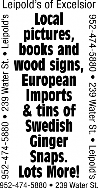 Local Pictures, Books and Wood Signs