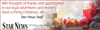 With Thoughts of Thanks and Appreciation to Our Loyal Advertisers and Readers