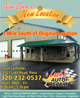 Now Open at New Location