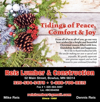 Tidings of Peace, Comfort & Joy