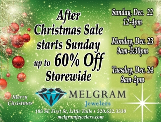After Christmas Sale Starts Sunday