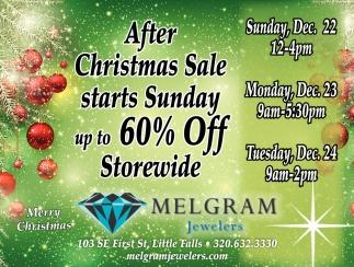 After Christmas Sale Starts Sunday