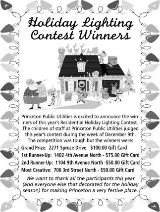 Holiday Lighting Contest Winners
