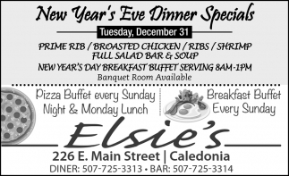 New Year's Eve Dinner Special