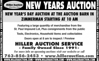 New Years Auction
