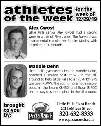Athletes of the Week