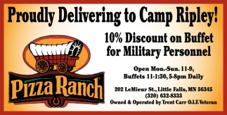 Proudly Delivering to Camp Ripley!