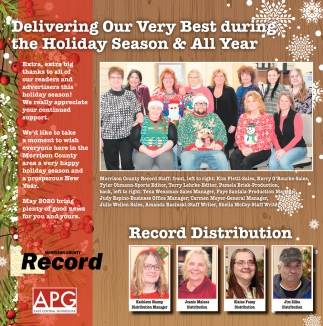 Delivering Our Very Best During the Holiday Season & All Year