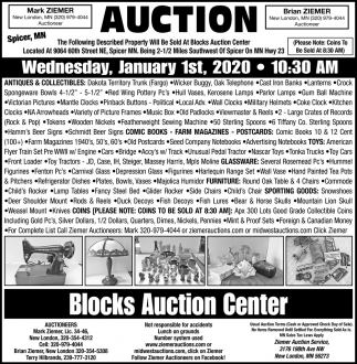 Auction Wednesday, January 1st