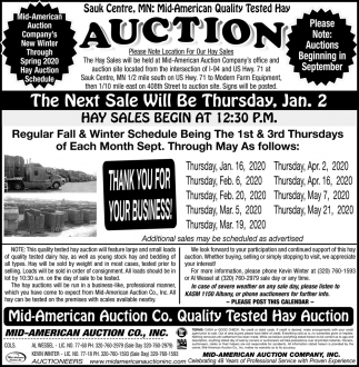 Quality Tested Hay Auction