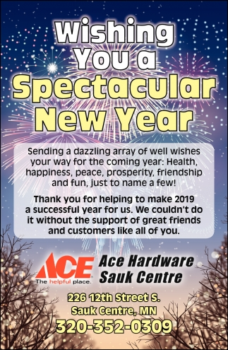 Wishing You a Spectacular New Year
