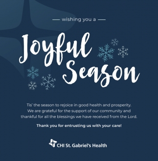 Wishing You a Joyful Season