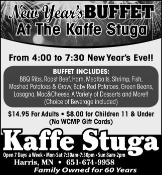 New Year's Buffet at the Kaffe Stuga