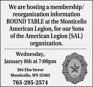 We are Hosting a Membership/ Reorganization Information Round Table