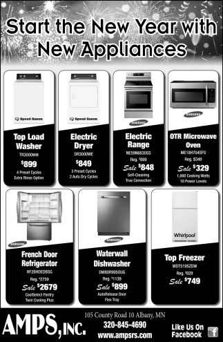 Start the New Year with New Appliances