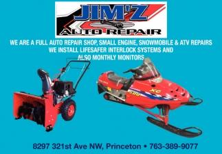 Snowmobile & ATV Repairs