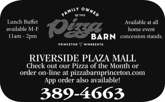 Check Out Our Pizza of the Month or Order On-line