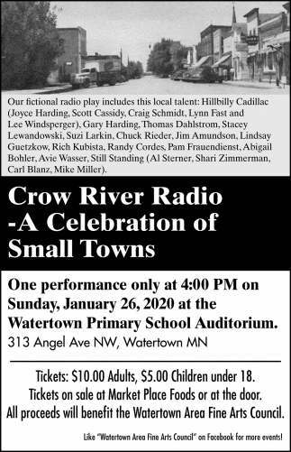 Crow River Radio Hour - A Celebration of Small Towns