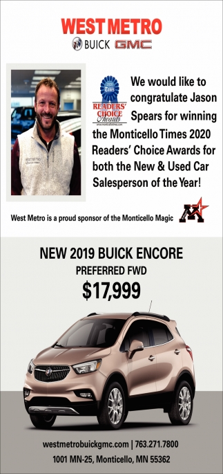 New & Used Car Salesperson of the Year!