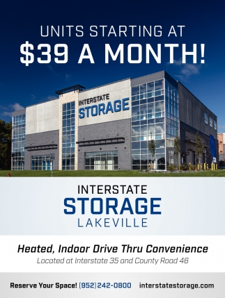 Units Starting at $39 a Month!