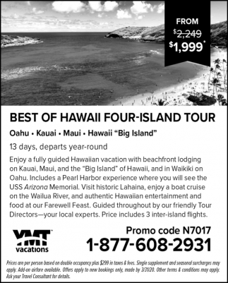 Best of Hawaii Four-Island Tour