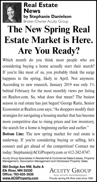 The New Spring Real Estate Market is Here. Are You Ready?