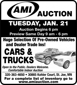 Huge Selection of Pre-Owned Vehicles and Dealer Trade Ins!