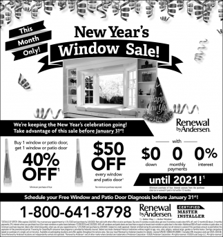 New Year's Window Sale!
