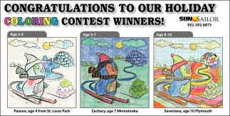 Congratulations to Our Holiday Coloring Contest Winners!
