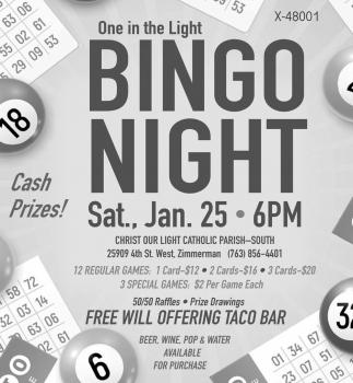 One in the Light Bingo Night